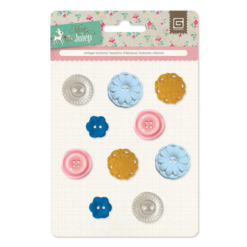 BasicGrey - Mint Julep Collection - Vintage Buttons