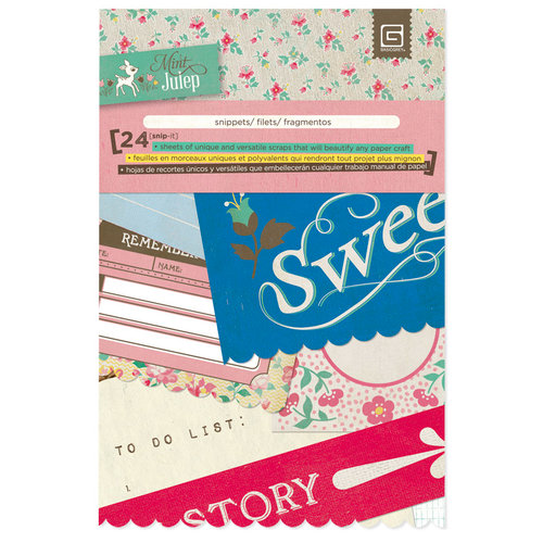 BasicGrey - Mint Julep Collection - Journaling Cards - Snippets