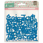 BasicGrey - Mint Julep Collection - Adhesive Chipboard - Alphabet