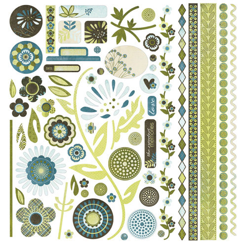 BasicGrey - Marjolaine Collection - 12 x 12 Element Stickers - Shapes