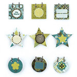 BasicGrey - Marjolaine Collection - Small Details - Decorative Stickers - Fasteners