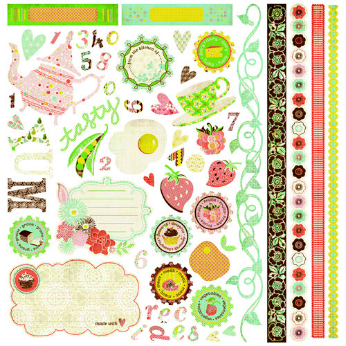 BasicGrey - Nook and Pantry Collection - Element Stickers - Shapes, CLEARANCE