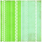 BasicGrey - Nook and Pantry Collection - Doilies - 12 x 12 Die Cut Paper - Green and Blue, CLEARANCE