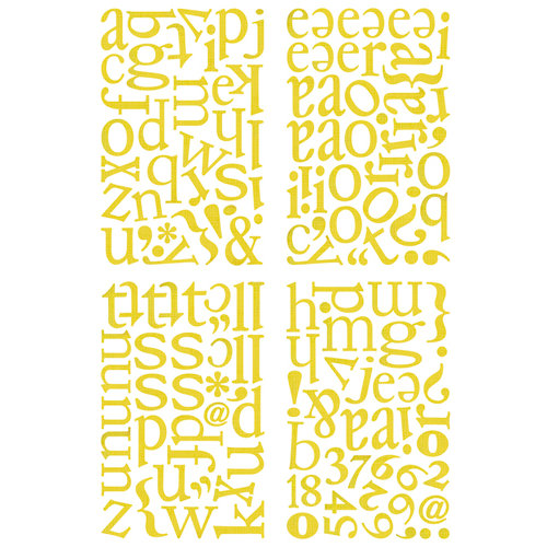 BasicGrey - Nook and Pantry Collection - Adhesive Chipboard - Alphabet, CLEARANCE