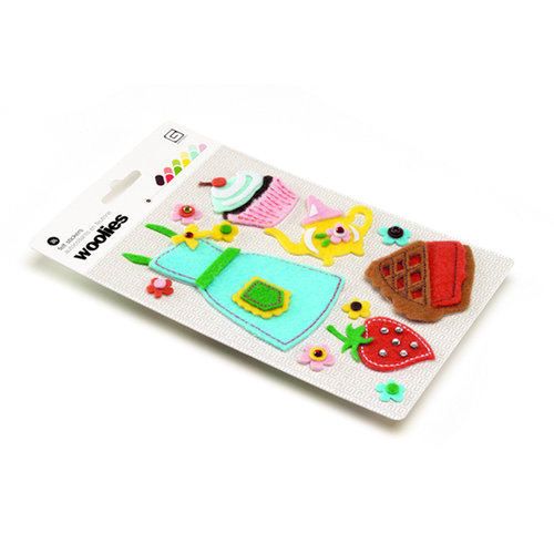 BasicGrey - Nook and Pantry Collection - Woolies - 3 Dimensional Felt Stickers, CLEARANCE