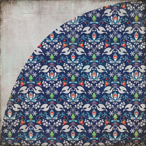 BasicGrey - Nordic Holiday Collection - Christmas - 12 x 12 Double Sided Paper - Slalom