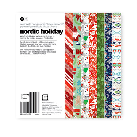 BasicGrey - Nordic Holiday Collection - Christmas - 6 x 6 Paper Pad