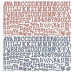 BasicGrey - Nordic Holiday Collection - Christmas - 12 x 12 Alphabet Stickers
