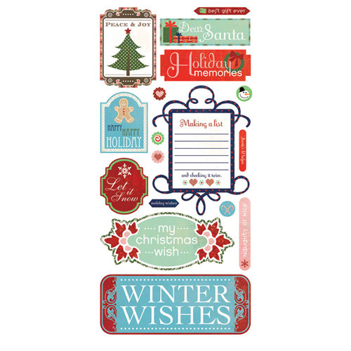 BasicGrey - Nordic Holiday Collection - Christmas - Title Stickers