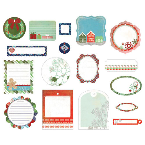 BasicGrey - Nordic Holiday Collection - Christmas - Die Cut Cardstock Pieces - Shapes