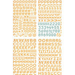 BasicGrey - Offbeat Collection - Adhesive Chipboard - Alphabet, CLEARANCE