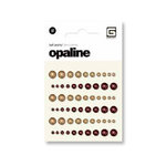 BasicGrey - Opaline Collecrtion - Pearls - Individual Half Pearls - Wine and Champagne