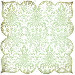 BasicGrey - Origins Collection - Doilies - 12 x 12 Die Cut Paper - White Tracery, CLEARANCE