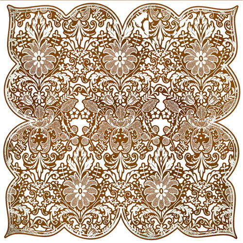 BasicGrey - Origins Collection - Doilies - 12 x 12 Die Cut Paper - Brown Tracery