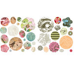 BasicGrey - Out of Print Collection - Petals - Die Cut Cardstock and Canvas Pieces