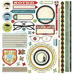 BasicGrey - Oxford Collection - 12 x 12 Element Stickers - Shapes