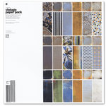 BasicGrey - Vagabond Collection - 12 x 12 Vintage Paper Pack