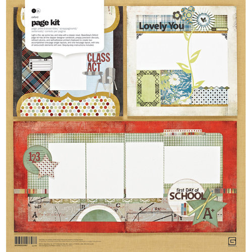 BasicGrey - Oxford Collection - Page Kit
