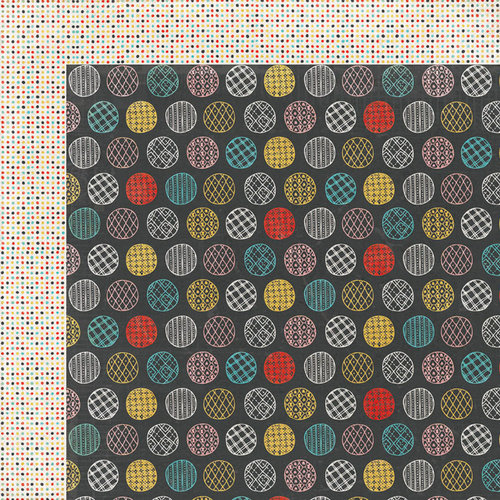 BasicGrey - Paper Cottage Collection - 12 x 12 Double Sided Paper - Backgammon