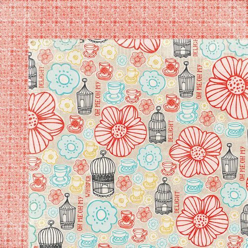 BasicGrey - Paper Cottage Collection - 12 x 12 Double Sided Paper - Porch Swing