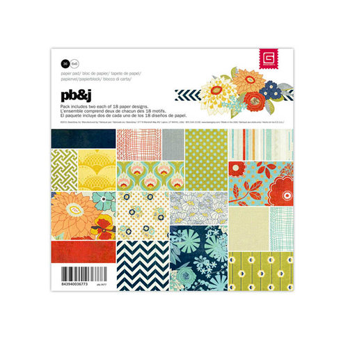 BasicGrey - PBandJ Collection - 6 x 6 Paper Pad