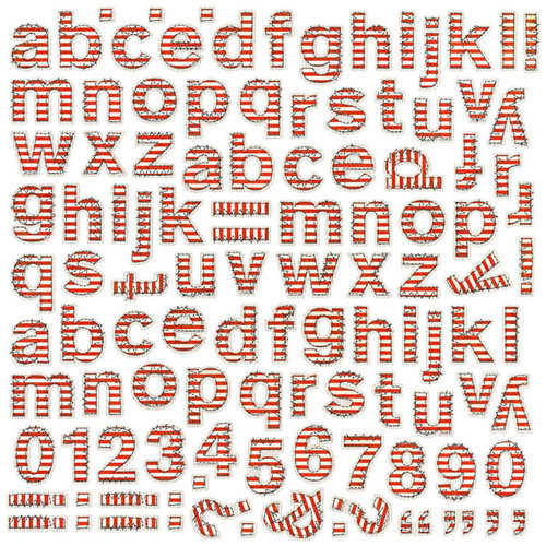 BasicGrey - PBandJ Collection - 12 x 12 Alphabet Stickers