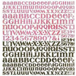 BasicGrey - Letter Stickers - Phoebe, CLEARANCE