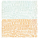 BasicGrey - Picadilly Collection - 12 x 12 Alphabet Stickers