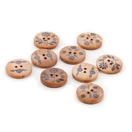 BasicGrey - Picadilly Collection - Wooden Buttons