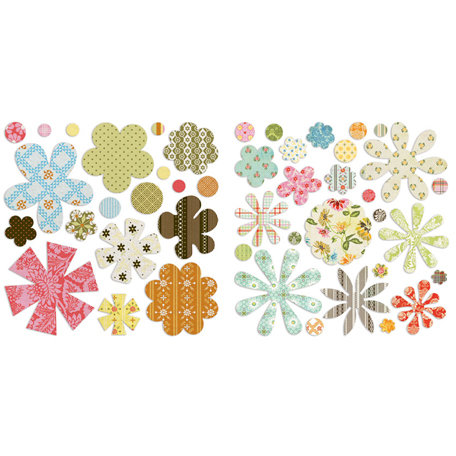 BasicGrey - Picadilly Collection - Die Cut Canvas and Cardstock Pieces - Flowers