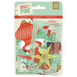 BasicGrey - 25th and Pine Collection - Christmas - Die Cut Cardstock and Transparency Pieces
