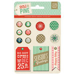 BasicGrey - 25th and Pine Collection - Christmas - Mixed Brads