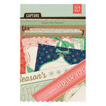 BasicGrey - 25th and Pine Collection - Christmas - Journaling Cards - Snippets