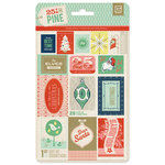 BasicGrey - 25th and Pine Collection - Christmas - Vintage Stamps