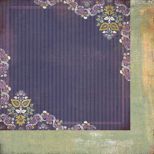BasicGrey - Plumeria Collection - 12 x 12 Double Sided Paper - Wild Grape Bistro