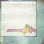 BasicGrey - Plumeria Collection - 12 x 12 Double Sided Paper - Floweret