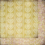 BasicGrey - Plumeria Collection - 12 x 12 Double Sided Paper - Yellow Wallpaper