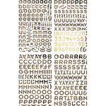 BasicGrey - Porcelain Collection - Adhesive Chipboard - Alphabet
