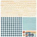 BasicGrey - Persimmon Collection - 12 x 12 Alphabet Stickers