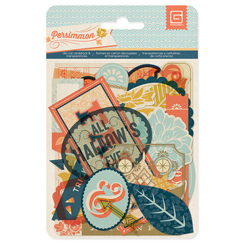 BasicGrey - Persimmon Collection - Die Cut Cardstock and Transparency Pieces