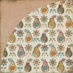 BasicGrey - Pyrus Collection - 12 x 12 Double Sided Paper - Snow Pear