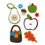 BasicGrey - Pyrus Collection - Woolies - 3 Dimensional Felt Stickers