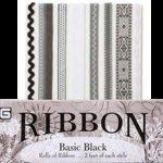 BasicGrey Ribbons - Basic Black, CLEARANCE