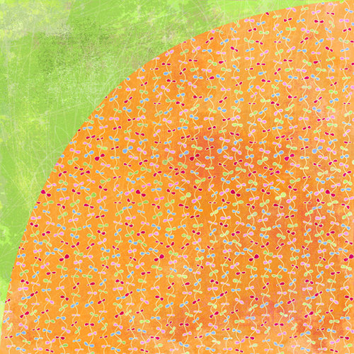 BasicGrey - Sugar Rush Collection - 12 x 12 Double Sided Paper - Orange Slices, CLEARANCE