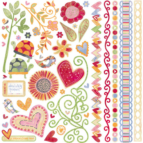 BasicGrey - Sugar Rush Collection - 12 x 12 Element Stickers - Shapes