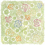 BasicGrey - Sugar Rush Collection - Doilies - 12 x 12 Die Cut Paper - Green Sweetfields, CLEARANCE