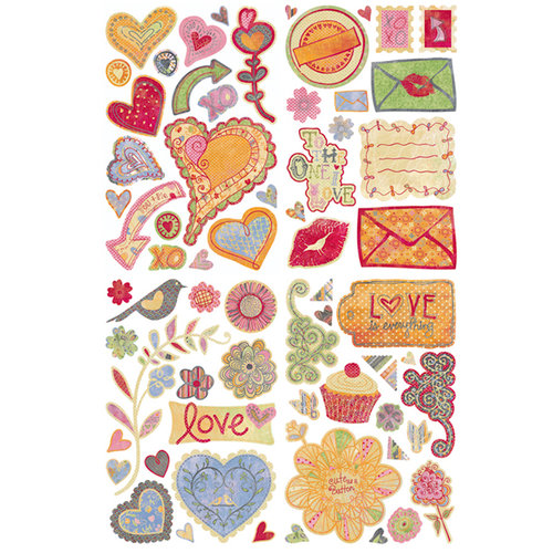BasicGrey - Sugar Rush Collection - Adhesive Chipboard - Shapes, CLEARANCE