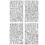 BasicGrey - Sugar Rush Collection - Adhesive Chipboard - Alphabet