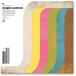 BasicGrey - Designer Cardstock Collection - 12 x 12 Double Sided Cardstock Pack - Happy