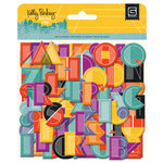 BasicGrey - Second City Collection - Printed Chipboard Stickers - Alphabet